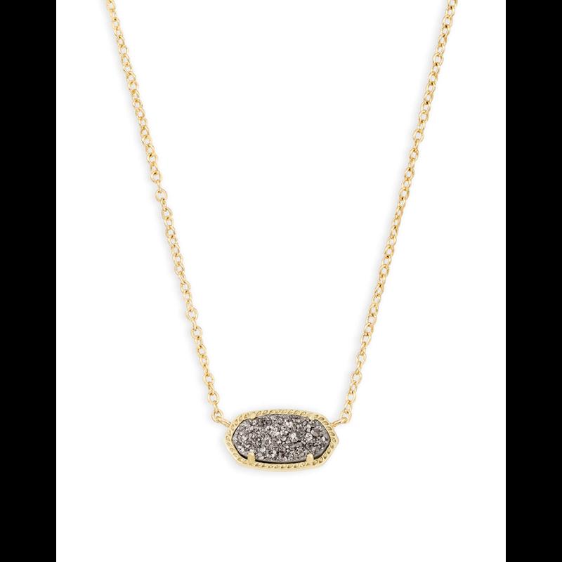 Kendra Scott Elisa Necklace in Gold Platinum Drusy