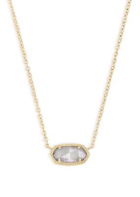 Kendra Scott Kendra Scott Elisa Gold & Slate Cat's Eye Necklace