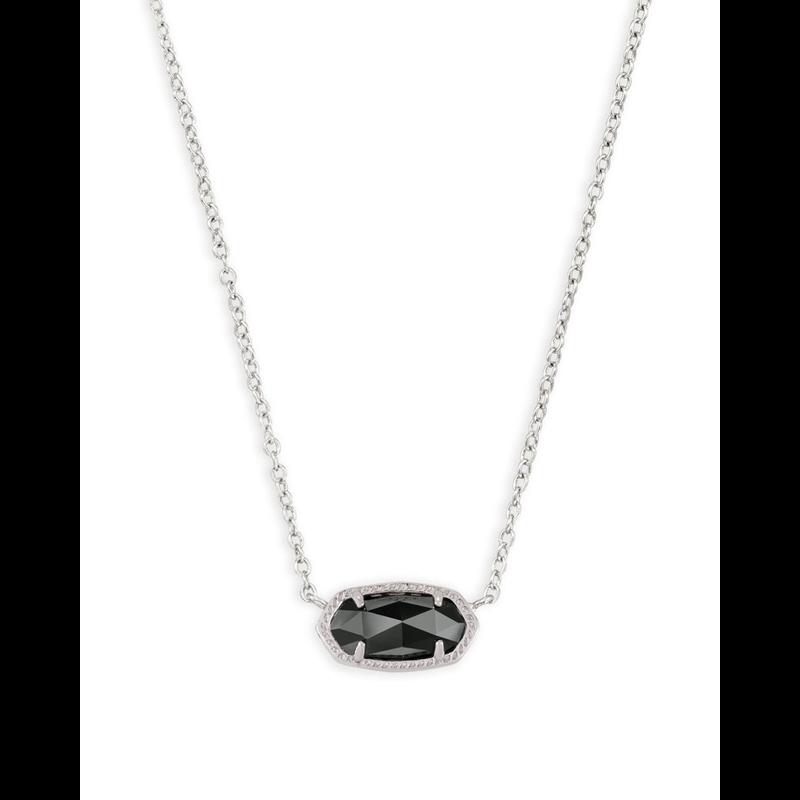 Kendra Scott Elisa Necklace in Silver &  Black