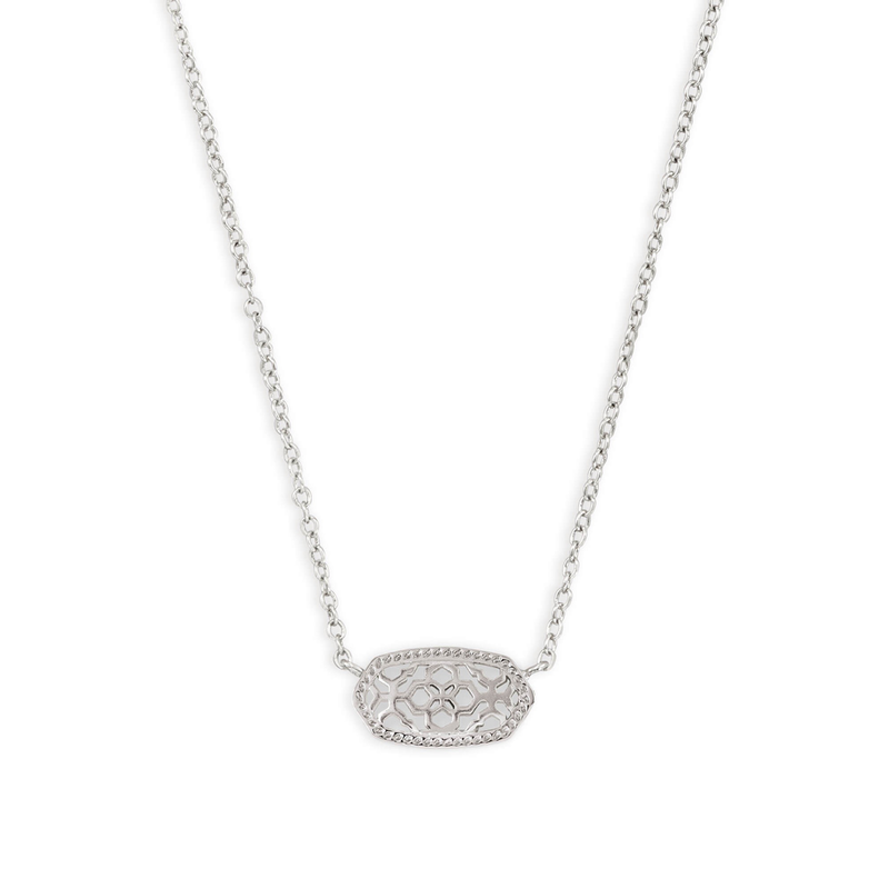 Kendra Scott Elisa Necklace in Silver Filigree Metal