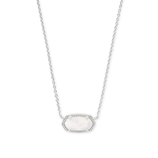 Kendra Scott Kendra Scott Elisa Necklace in Silver Ivory Mother of Pearl