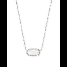 Kendra Scott Kendra Scott Elisa Necklace in Silver & White Mother of Pearl
