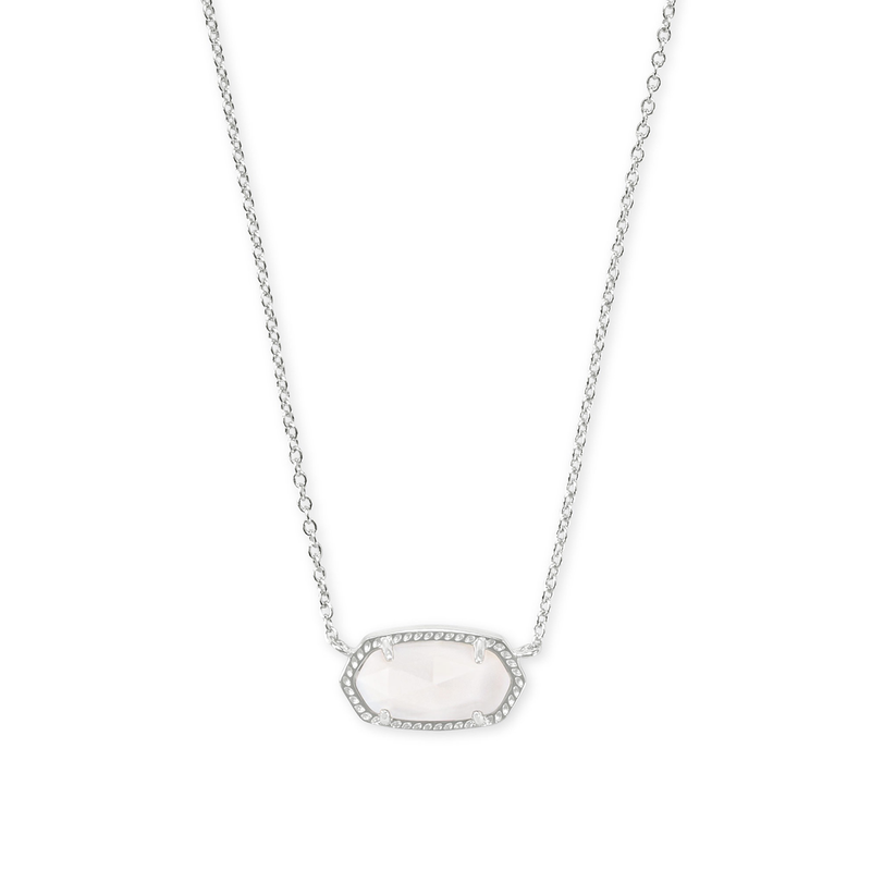 Kendra Scott Elisa Necklace in Silver & White Mother of Pearl