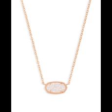 Kendra Scott Kendra Scott Elisa Necklace in Rose Gold Iridescent Drusy