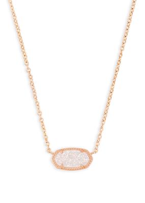 Kendra Scott Kendra Scott Rose Gold Iridescent Drusy Necklace