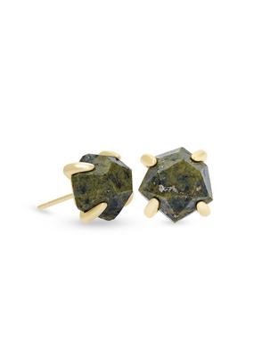 Kendra Scott Kendra Scott Ellms Small Stud Earring Gold Olive Epidote
