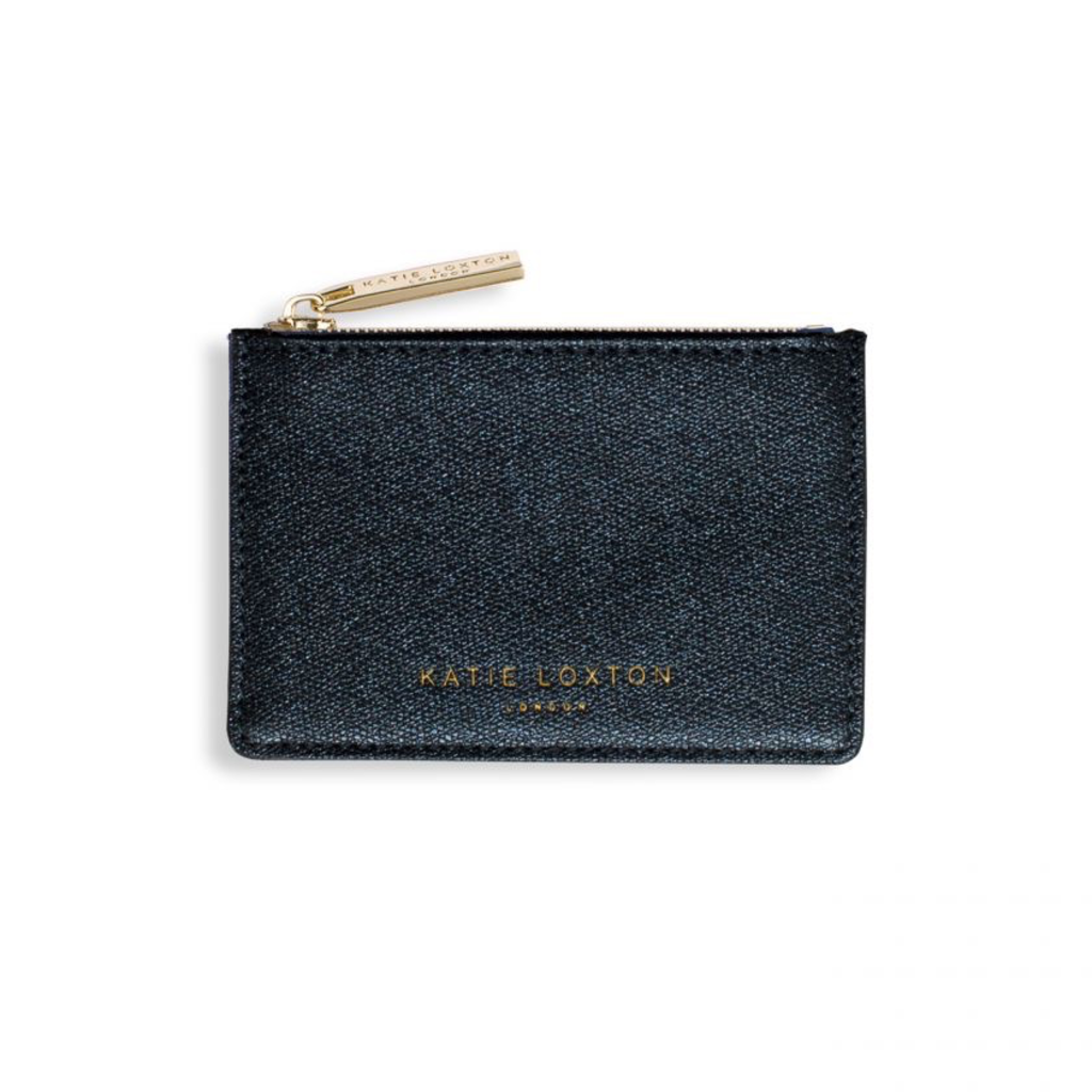 Katie Loxton Alexa Metallic Card Holder - Blue Shimmer