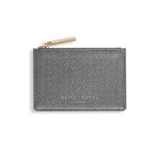 Katie Loxton Alexa Metallic Card Holder - Charcoal Shimmer
