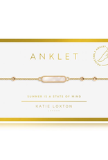 Katie Loxton Anklet Gold Shell