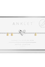 Katie Loxton Anklet Silver Heart