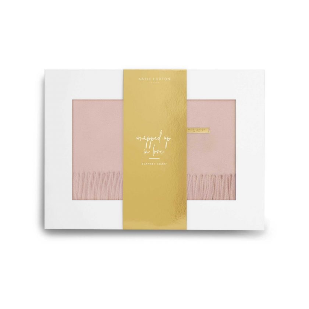 Katie Loxton Wrapped in Love Boxed Scarf-Pink