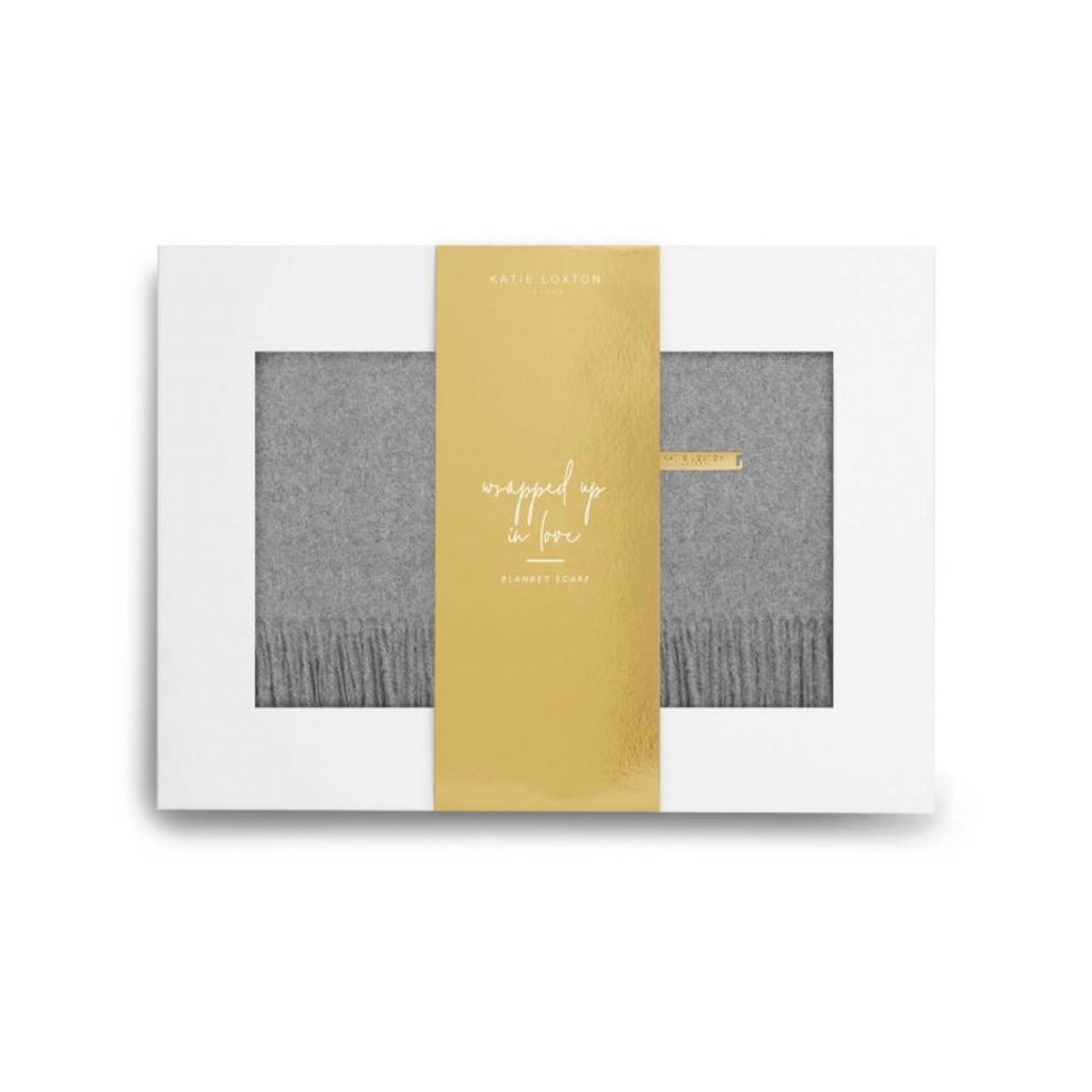 Katie Loxton Wrapped in Love Boxed Scarf-Grey