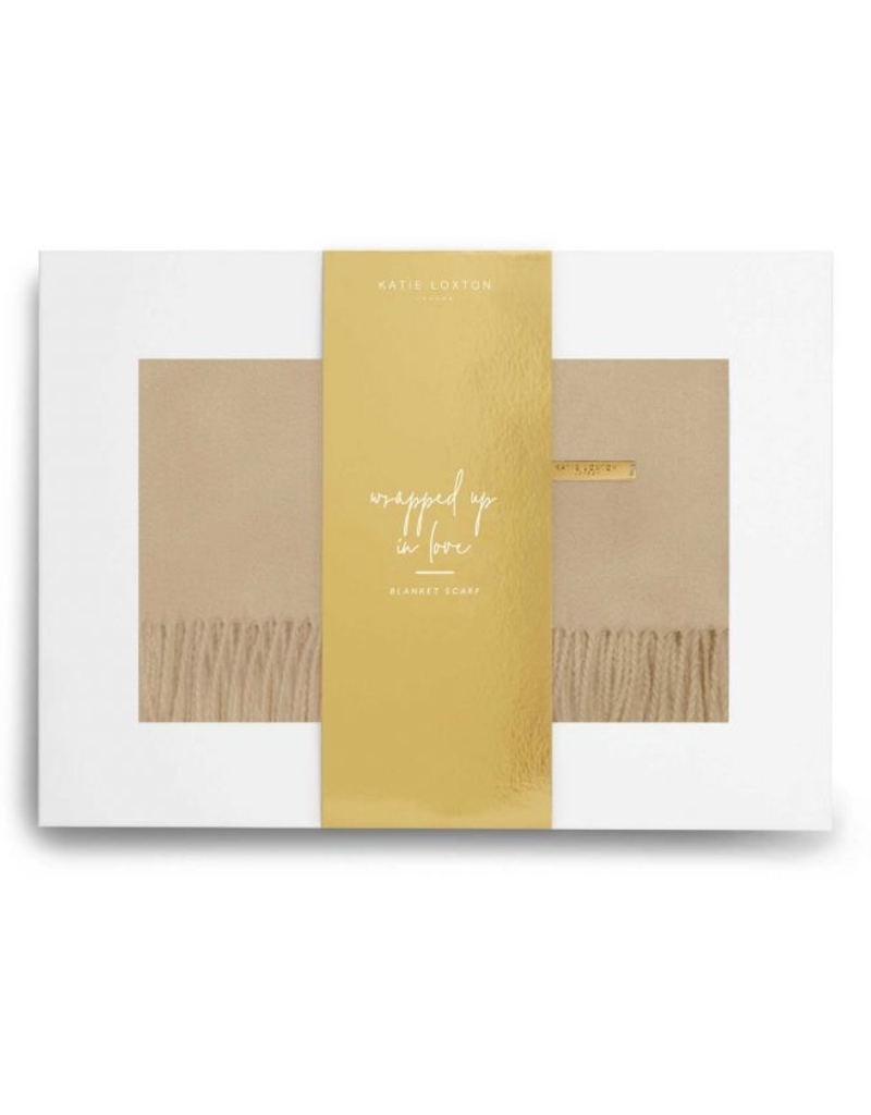 Katie Loxton Wrapped in Love Boxed Scarf-Camel
