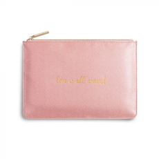 Katie Loxton Perfect Pouch - Love is All Around - Pink