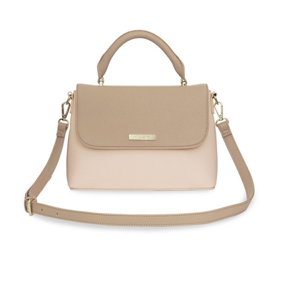 Accessories Katie Loxton Talia Two Toned Messenger - Taupe & Nude Pink