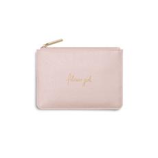Katie Loxton Mini Perfect Pouch - Flower Girl - Metallic Pink