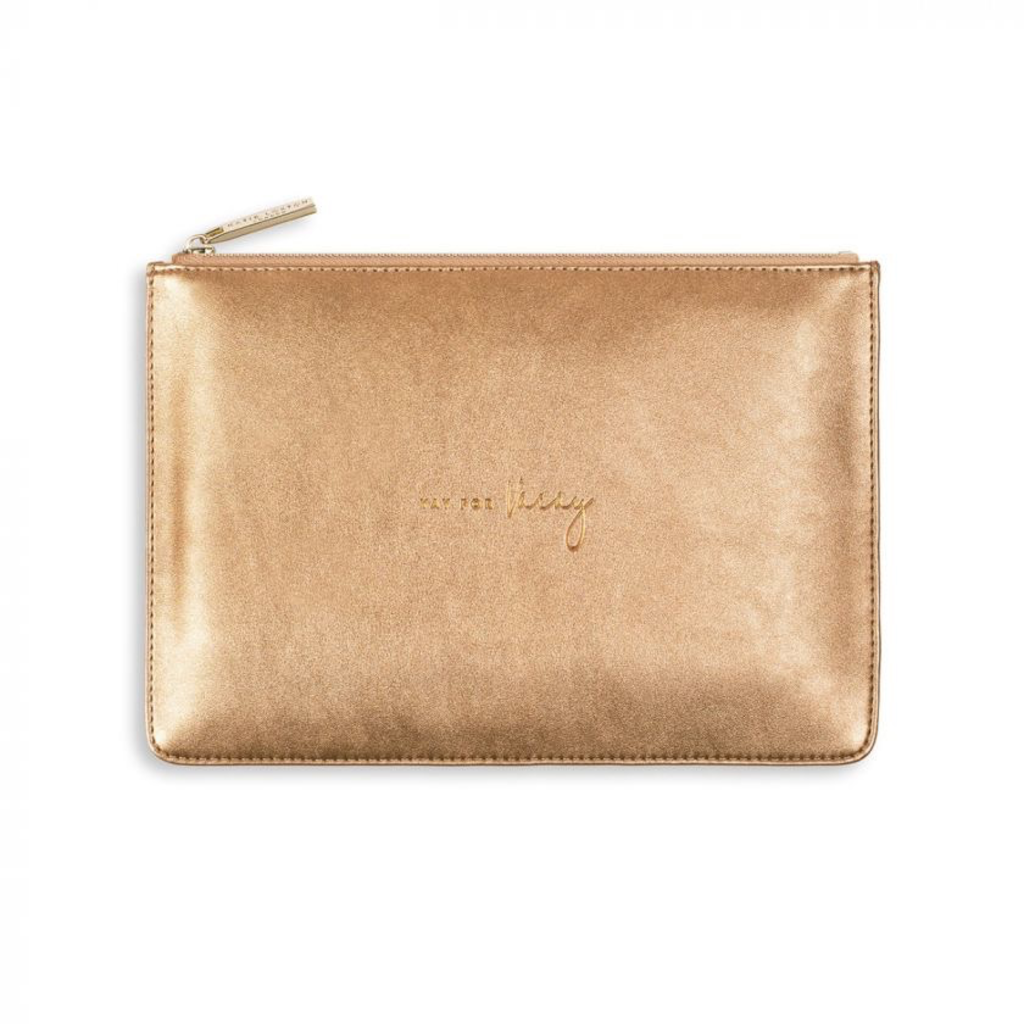 Katie Loxton Pebble Perfect Pouch - Yay for Vacay - Bronze