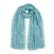 Katie Loxton Sentiment Scarf - Wish - Aqua Blue