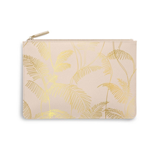 Katie Loxton Perfect Pouch - Palm Print - Nude Pink