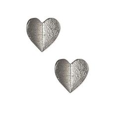 Rebecca Heart Post - Silver