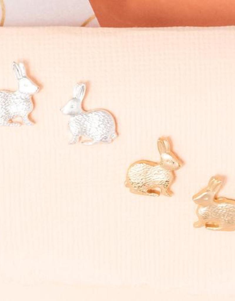 Rebecca Peter Rabbit Post - Silver