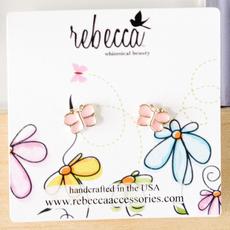 Rebecca Pink Butterfly Earring