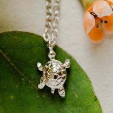Rebecca Turtle Necklace - Silver