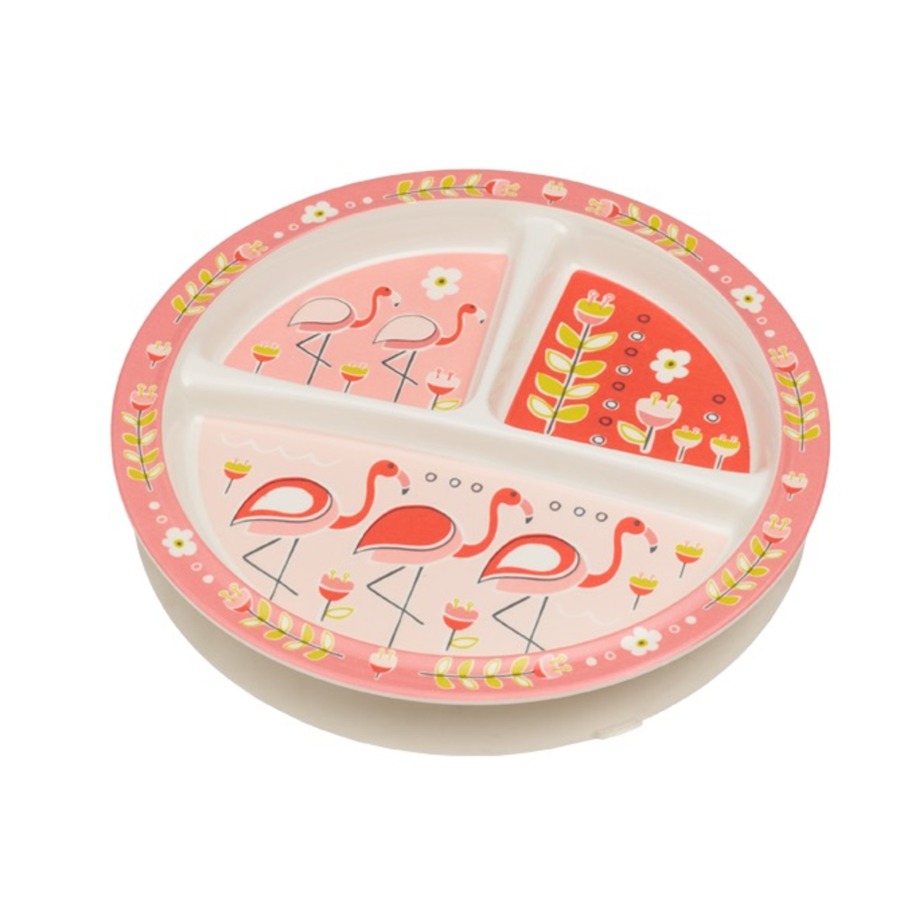 ORE Divided Suction Plate Flamingo