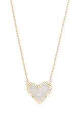 Kendra Scott Kendra Scott Ari Short Necklace Irid Drusy Gold