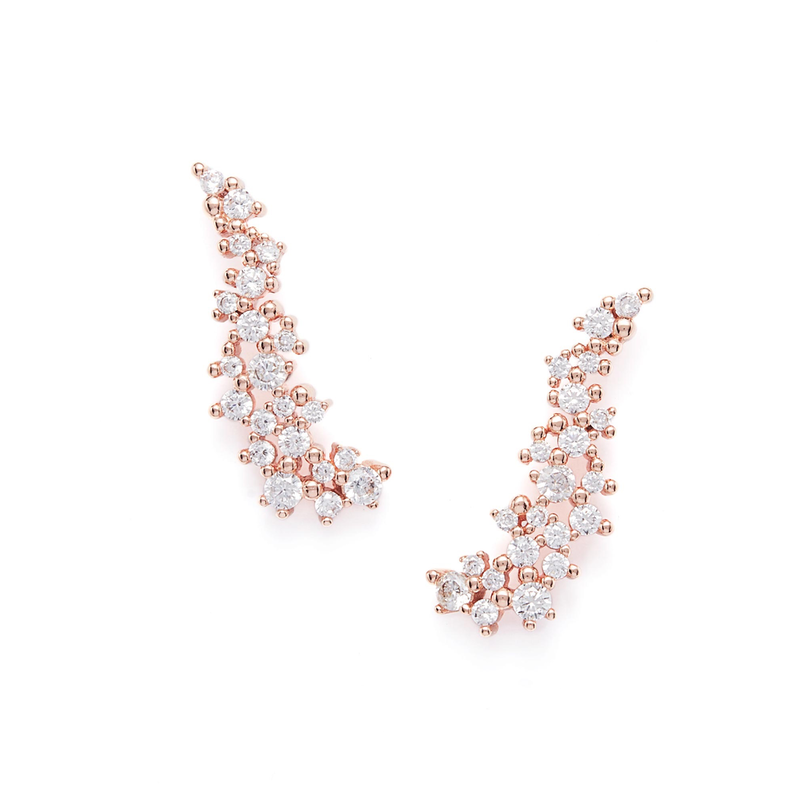 Kendra Scott Petunia Earrings in Rose Gold
