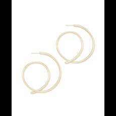Kendra Scott Kendra Scott Myles Hoop Earrings in Gold