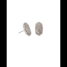 Kendra Scott Kendra Scott Ellie Earrings in Silver Platinum Drusy