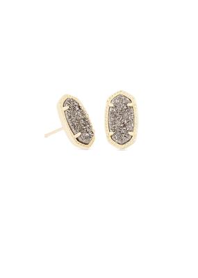Kendra Scott Kendra Scott Ellie Gold & Platinum Drusy Earrings