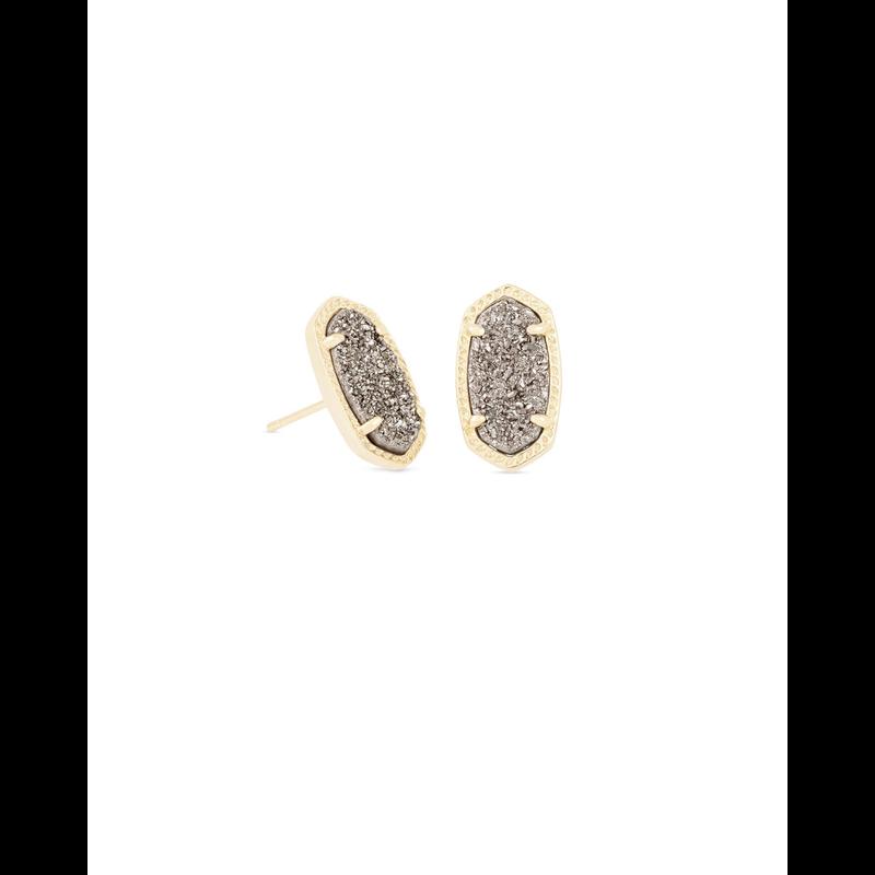 Kendra Scott Ellie Earrings in Gold & Platinum Drusy
