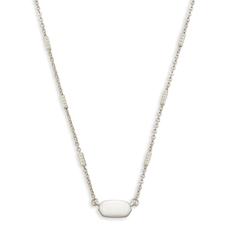 Kendra Scott Kendra Scott Fern Necklace in Bright Silver