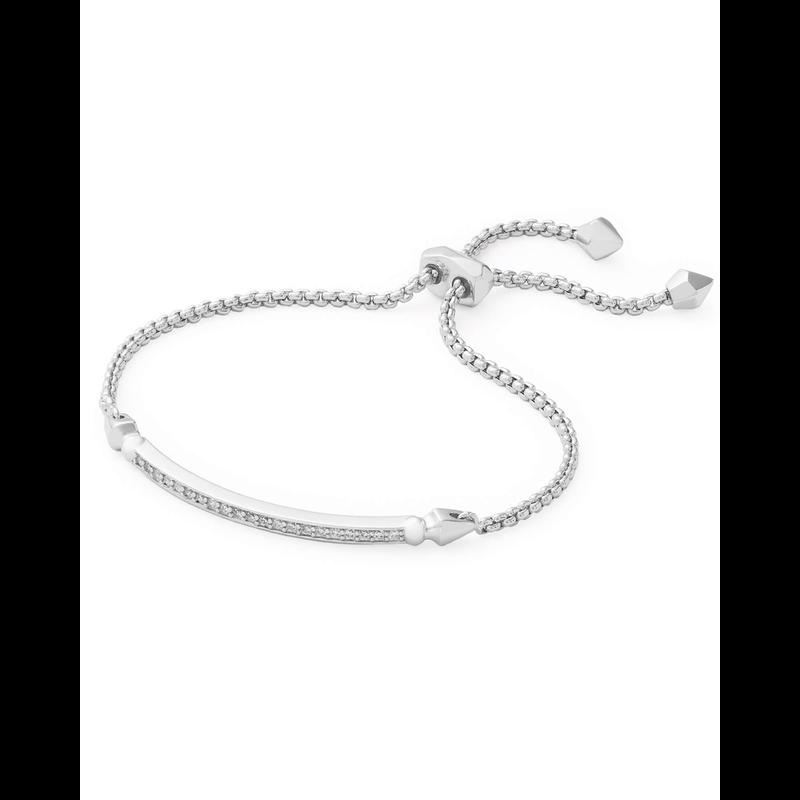 Kendra Scott Ott Bracelet in Silver  White CZ