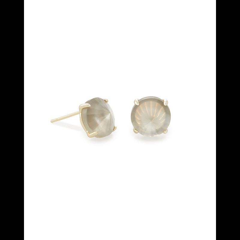 Kendra Scott Jolie Stud Earrings in Gold Gray Illusion
