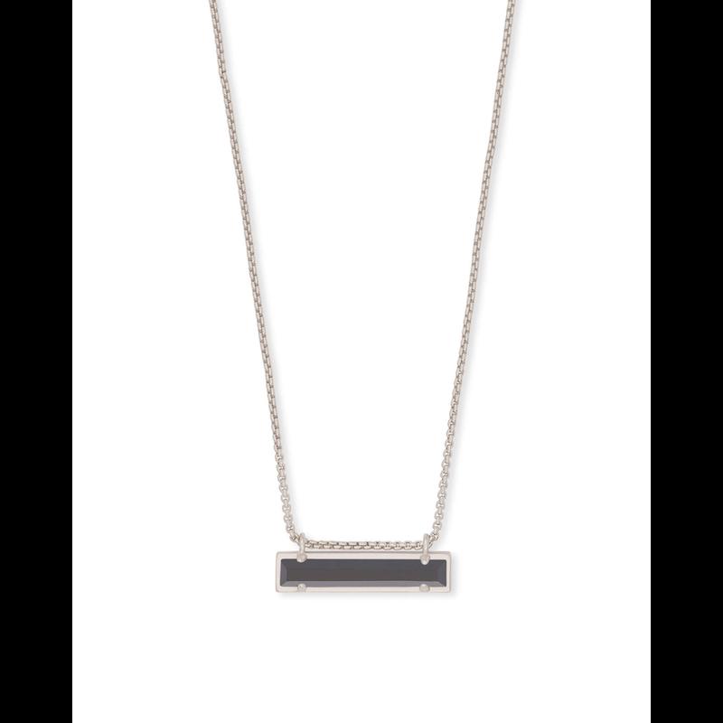 Kendra Scott Leanor Necklace in Silver & Black