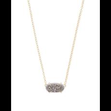Kendra Scott Kendra Scott Ever Necklace in Gold Platinum Drusy
