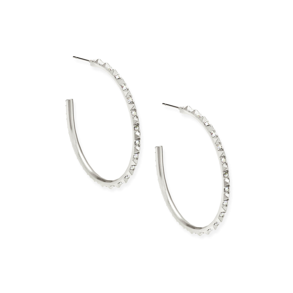 Kendra Scott Kendra Scott Veronica Earrings in Silver Iridescent Crystal