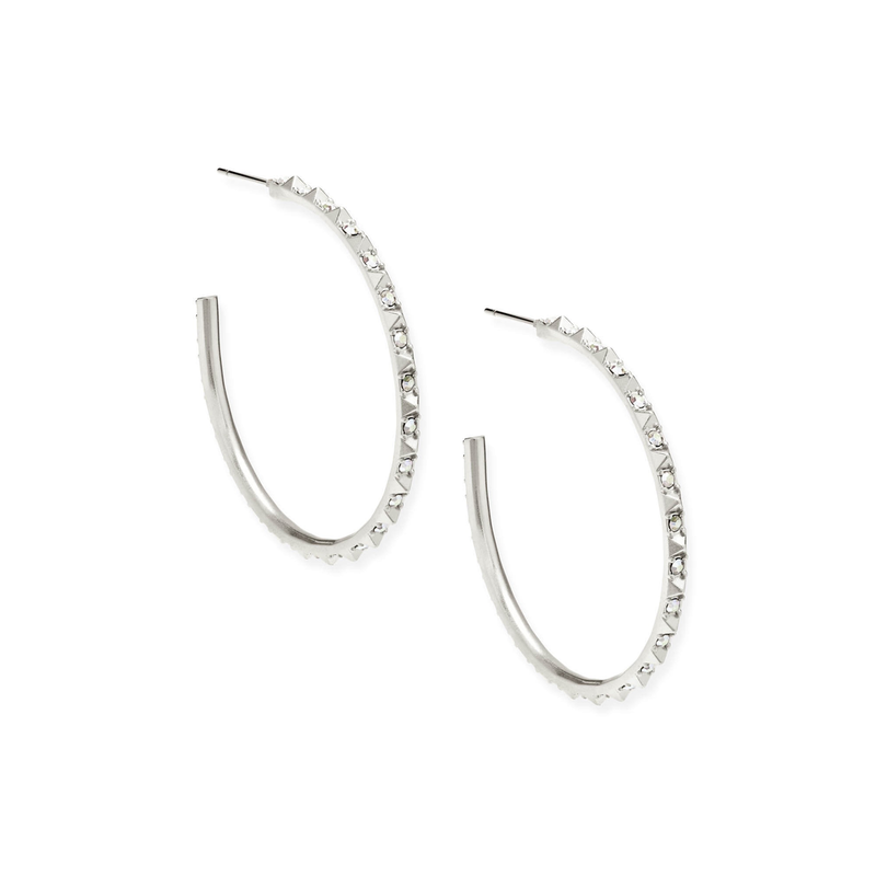 Kendra Scott Veronica Earrings in Silver Iridescent Crystal