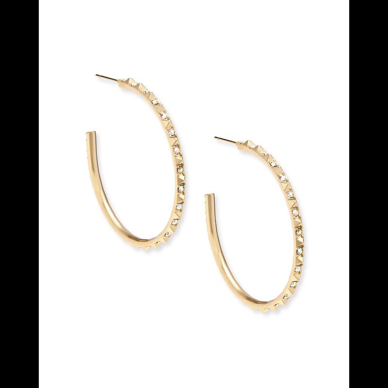 Kendra Scott Veronica Earrings in Gold Iridescent Crystal
