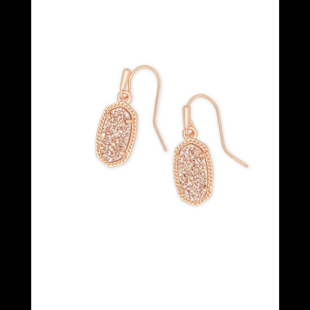Kendra Scott Kendra Scott Lee Drop Earrings in Rose Gold Sand Druzy