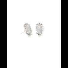Kendra Scott Kendra Scott Ellie Earrings in Silver & Slate Cat's Eye