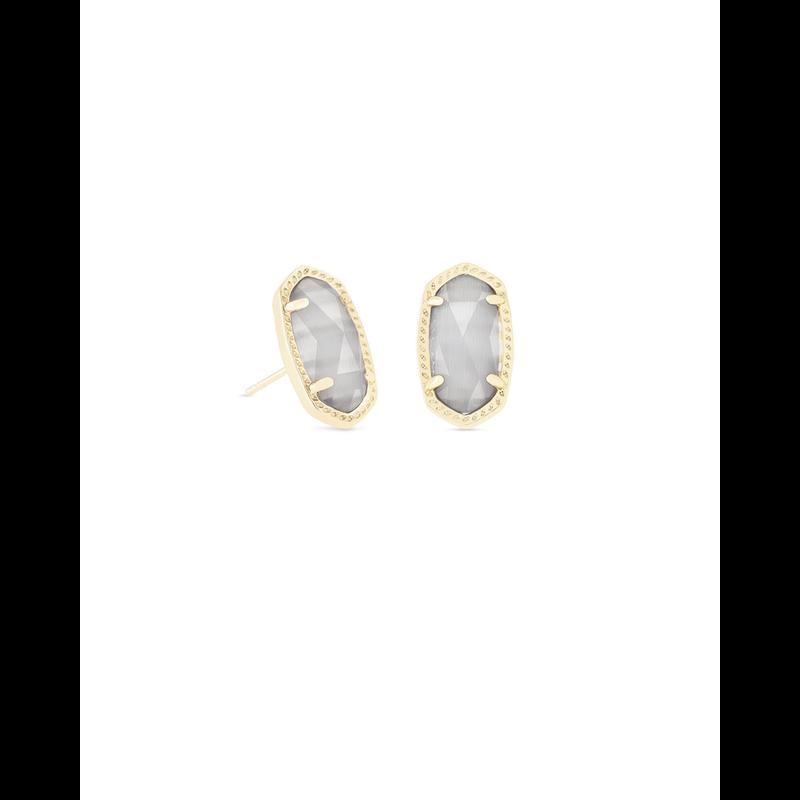 Kendra Scott Ellie Earrings in Gold & Slate Cat's Eye