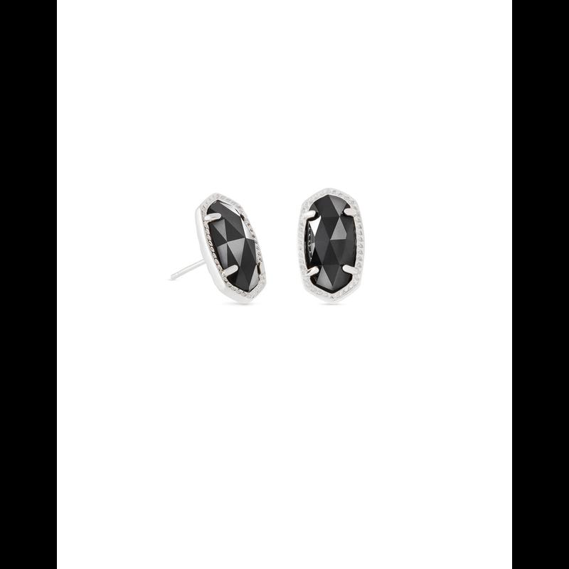 Kendra Scott Ellie Earrings in Silver & Black
