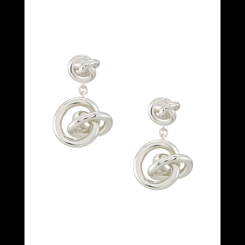 Kendra Scott Presleigh Drop Earrings in Silver