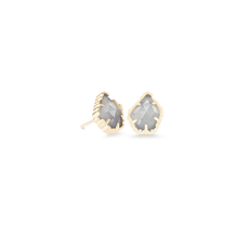 Kendra Scott Kendra Scott Tessa Earrings in Gold Slate Cats Eye