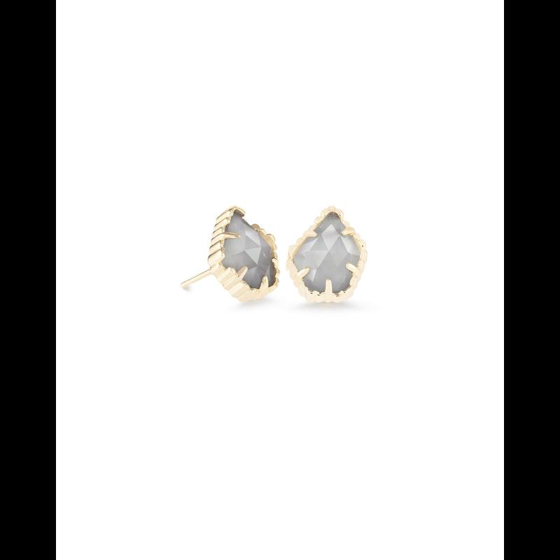 Kendra Scott Tessa Earrings in Gold Slate Cats Eye