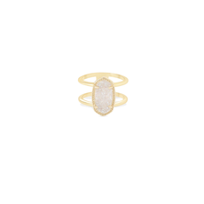 Kendra Scott Kendra Scott Elyse Ring in Gold Iridescent Drusy - Size 8